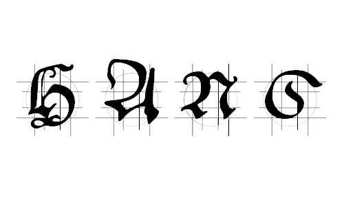 Hans Schoens Caps In Grid font