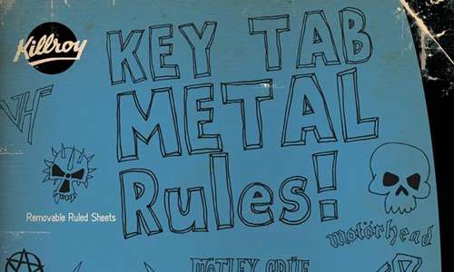 Rock metal doodle fonts sketch free
