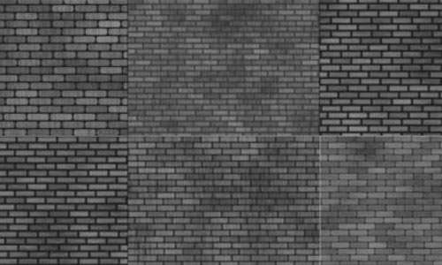 Assorted Brick Wall Brushes