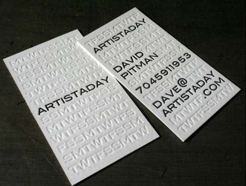 Artistaday Business Cards
