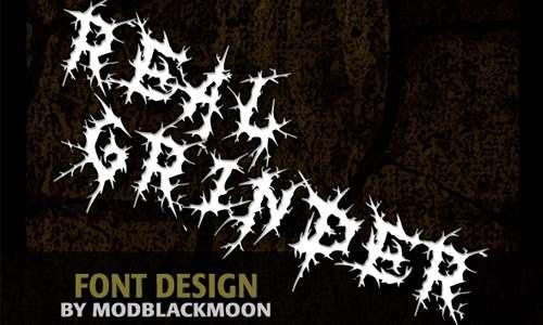 MB Real Grinder font