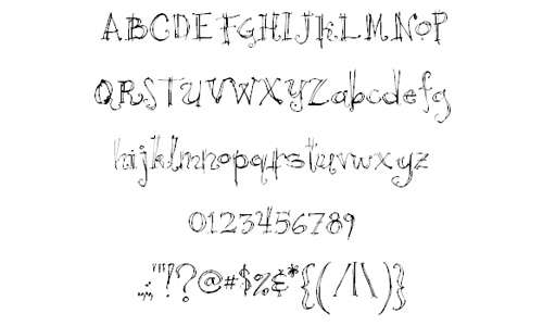Nice curly doodle fonts sketch free