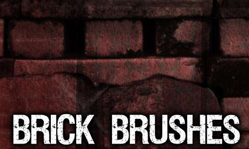 Brick 1 Brush Pack for Photoshop or Gimp