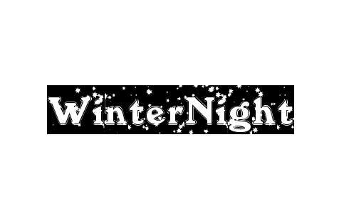 Winter night snowy snow free fonts