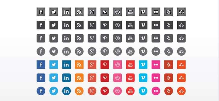 Free Flat Vector Social Icons