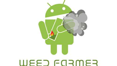 Android Smoking a Bong on Whit wallpapers