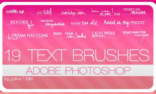 19 text brushes