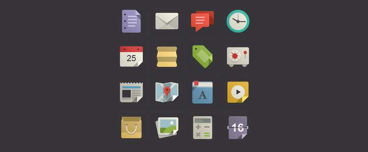 Flat Design Icons Set Vol1 by Pixeden