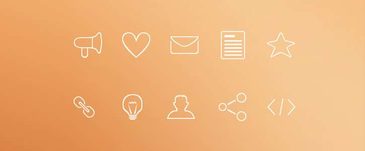 Minimal Outline Icons by PremiumPixels