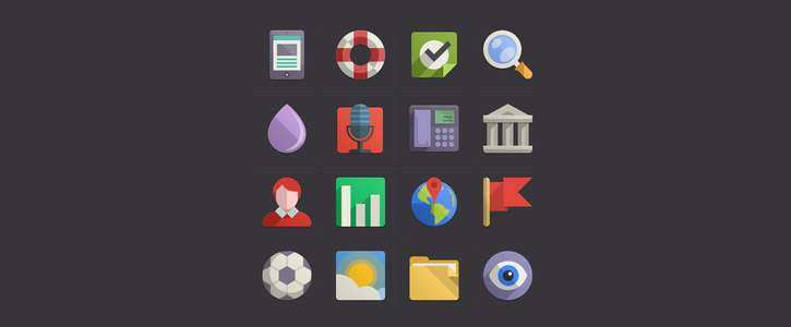 Flat Design Icons Set Vol4 by Pixeden