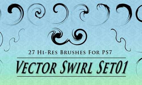 Brushes - Vector Swirl Set01
