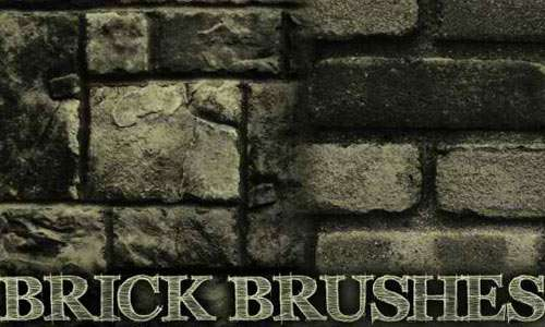 Brick 3 Brush Pack for Photoshop or Gimp