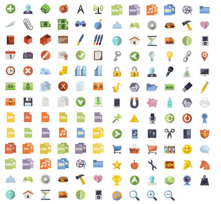 Flat Icons by iconShock