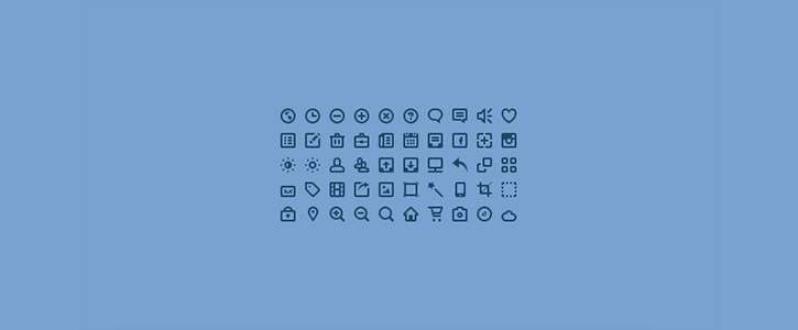 50 Mini Icons by PremiumPixels
