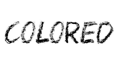 Colored Crayons font