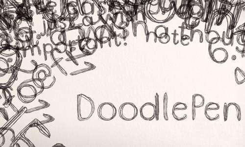 Pen doodle fonts sketch