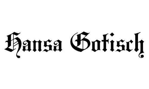 HansaGotisch font