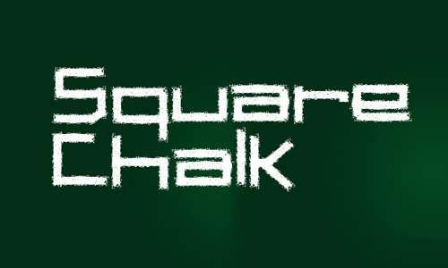 7 seven square chalk image
