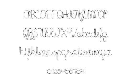 Cupcake cursive doodle fonts sketch free