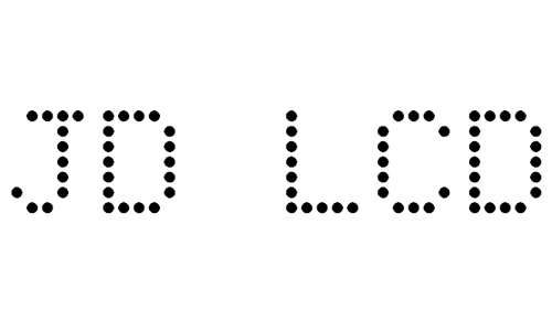 JD LCD Rounded font