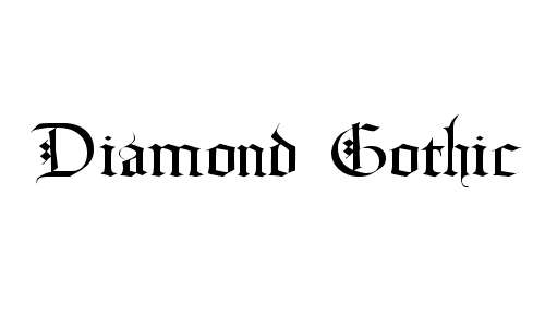 Diamond Gothic font