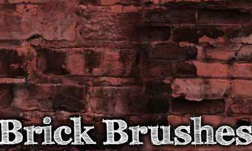 Brick 4 Brush Pack for Photoshop or Gimp