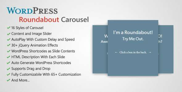 Roundabout - WordPress Carousel Slider Plugin - CodeCanyon Item for Sale