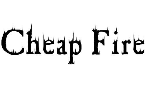 Cheap Fire font