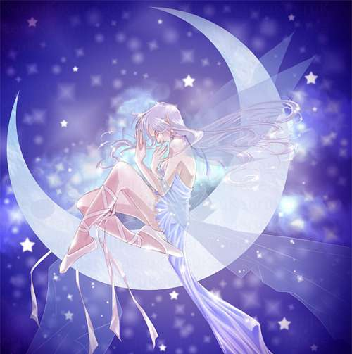 Moon fairy illustrations artworks