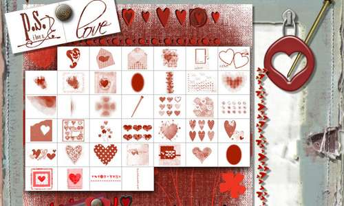 Valentine Mega Art Brush Set