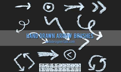 Grungy Hand Drawn Arrow Brushes