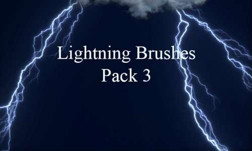 Lightning Brushes Pack 3