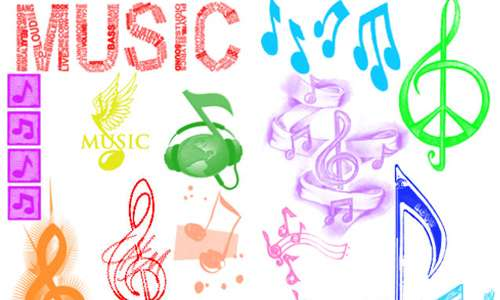 Music Notes Brushes