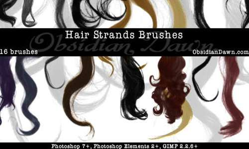 Wavy Hair Strands Brushes