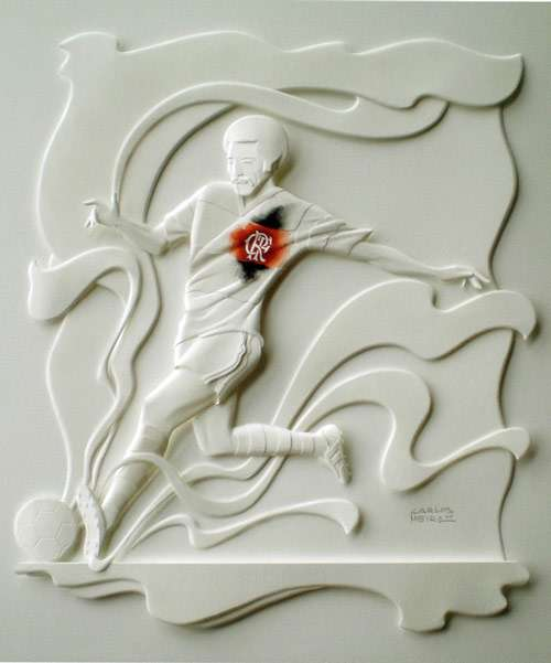 Very Sporty Paper Sculpture.