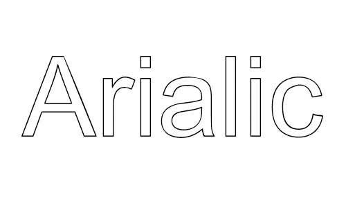 Arialic font