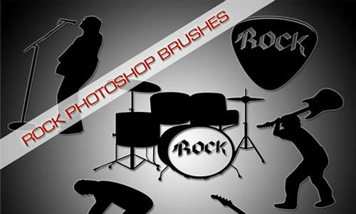 Rock Photoshop Brushes