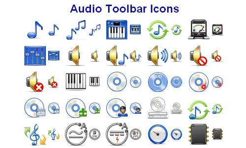 Audio Toolbar Icons