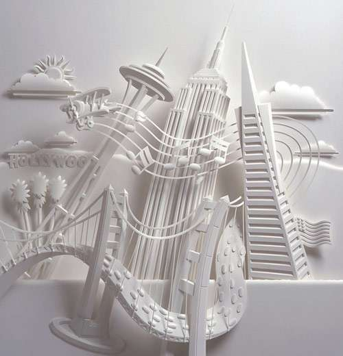 Lively Paper Sculpture.