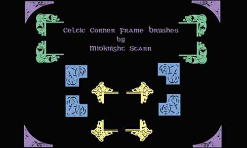 Celtic Corner Frame Brushes