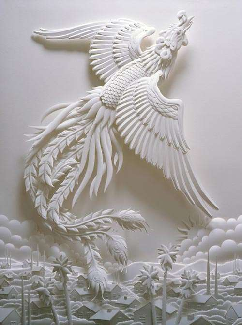 Artistic Paper Sculpture.