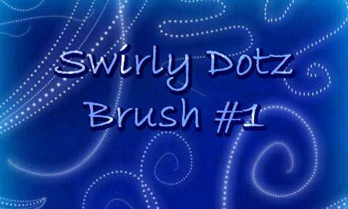 Swirly Dotz Brush