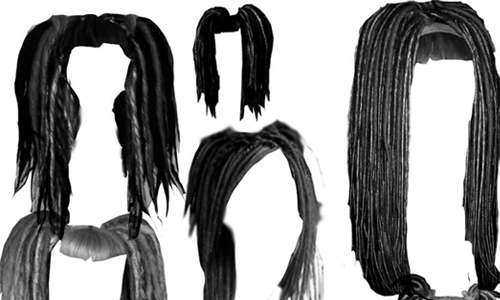 Dreadlock hair style brushes