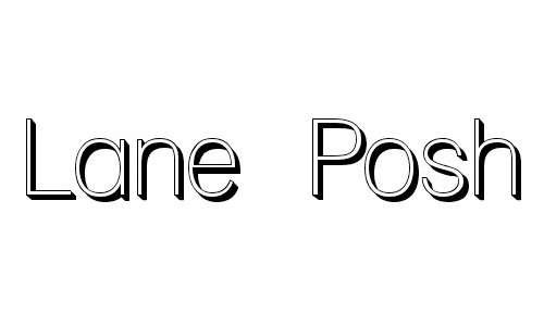 Lane Posh font