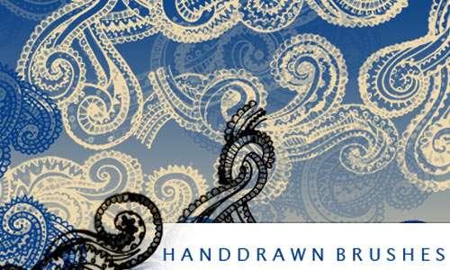 Handrawn swirls s brushes