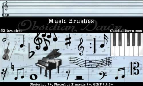 Music Photoshop Brushes