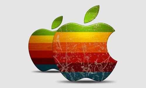 weathered apple
