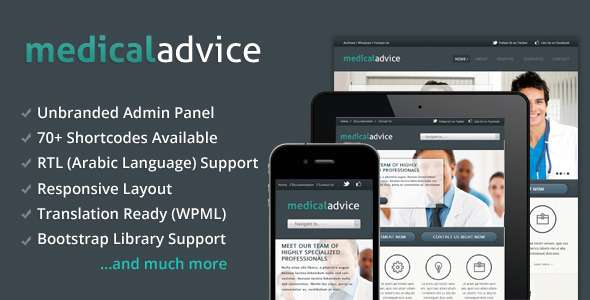 Medical Advice - Responsive WordPress Theme - Health & Beauty Retail