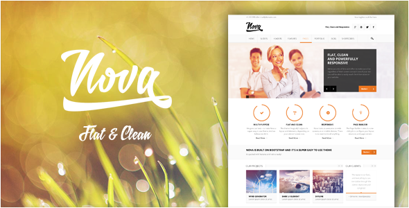Nova - Flat & Clean, Responsive Theme - Business Corporate