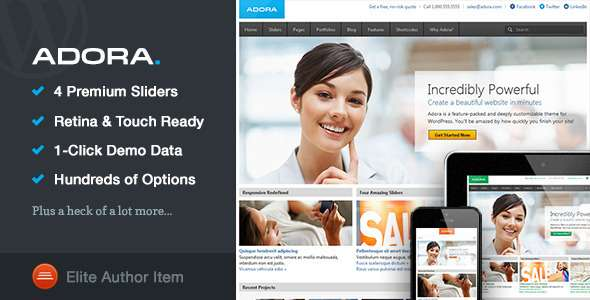 Adora | Responsive Multi-Purpose Theme - Corporate WordPress